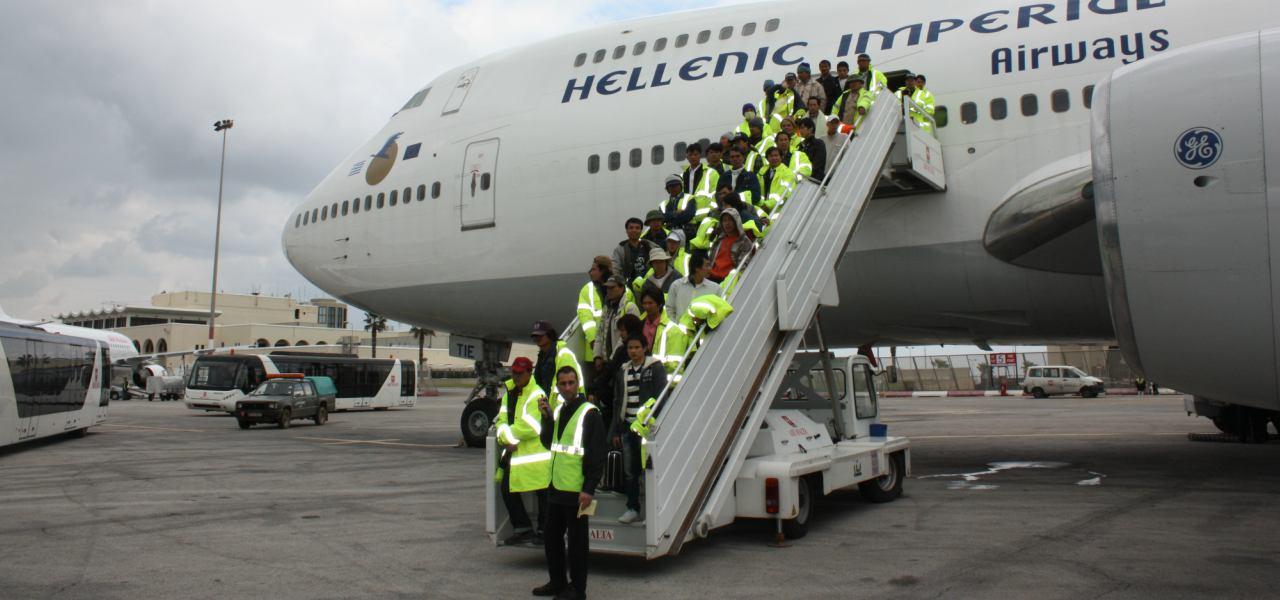 航空救援人员撤离