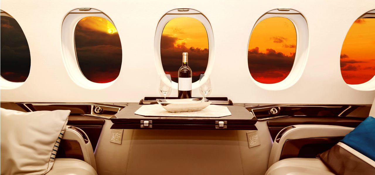 豪华私人飞机内景